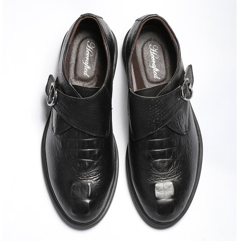 Mode Cuir Hommes ~ 36 Fleur En Taille 20188829 Chaussures Black 49 brown Hecrafted Confortable Pleine Robe 7Yyvgbf6