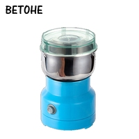 BETOHE mini electric coffee beans grinder Stainless steel Chinese herbs medicine grains crusher mill grinding Spice powder