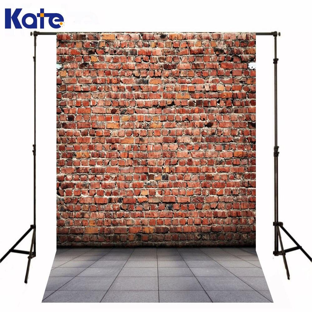 Kate Backdrop Newborn Baby Red Brick Wall Fond De Studio De Gray Tiles Floor Photography Backgrounds For Photo Studio  недорого
