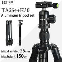 Tripod professionaal camera stand mount flexible travel camera tripod aluminum for the dslr camera with tripod head