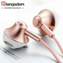 langsdom Super Bass Earphone Copper Driver Music earphones with Microphone 3.5mm in ear Stereo Headset for Phone fone de ouvido