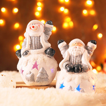 European Style Snowball Father Christmas Christmas Snowman Sculpture Home Furnishing Articles Christmas Gifts G1972