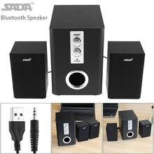 ФОТО sada full range 3d stereo 2.1 subwoofer wireless bluetooth pc speaker portable bass music dj usb computer speakers for phone tv
