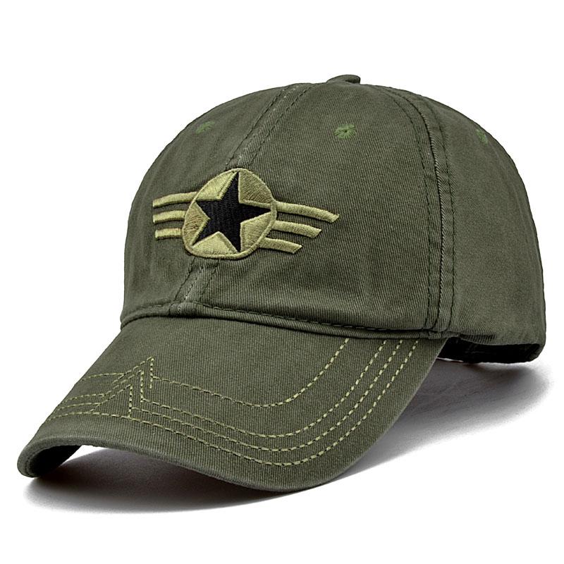 Newest Men Pentagram Baseball Cap Top Quality Army Camo Caps Hunting Fishing font b Hat b