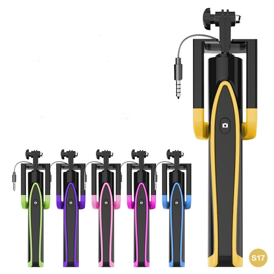 Nykomling Mini Wired Selfie Stick 20-74cm Portabel Extendable Monopod - Kamera och foto