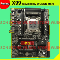 Brand Runing discount X99 LGA2011 3 motherboard with M.2 NVMe slot For Xeon V3 V4 CPU RAM DDR4 4 channels 6*USB3.0 10*SATA3.0