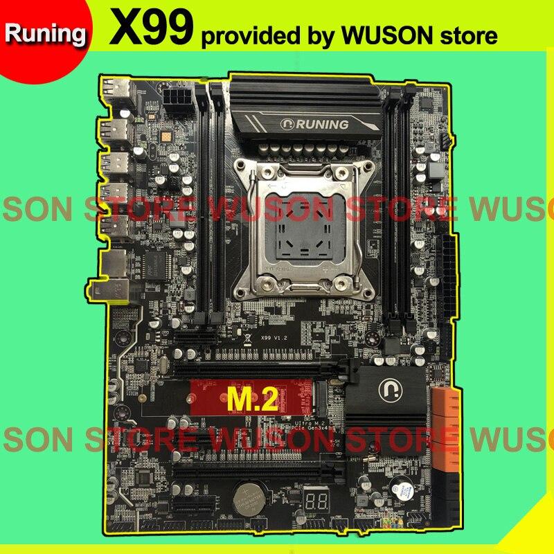 Remise de marque X99 carte mère LGA2011-3 avec emplacement M.2 NVMe pour Xeon V3 V4 CPU RAM DDR4 4 canaux 6 * USB3.0 10 * SATA3.0
