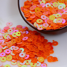 4000pcs/lot (30g) Orange AB  color 4mm Flat round loose sequins Paillettes sewing Wedding craft Good quality Free Shipping