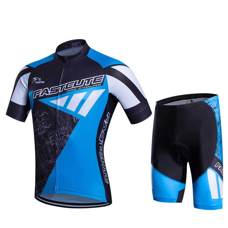 FASTCUTE Pro Cycling Jersey Set Summer MTB Bicycle Clothing Ropa Ciclista Breathable Bike Clothes Maillot Ciclismo Cycling Set