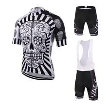 2017 skeleton new font b men s b font cycling wear jersey brand UV protection team