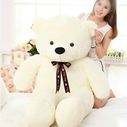 100cm big teddy bear plush toys plush stuffed animal toy valentine gift Factory Price new lovely plush teddy bear toy big eyes bow bear toy stuffed white teddy bear gift 100cm 0059