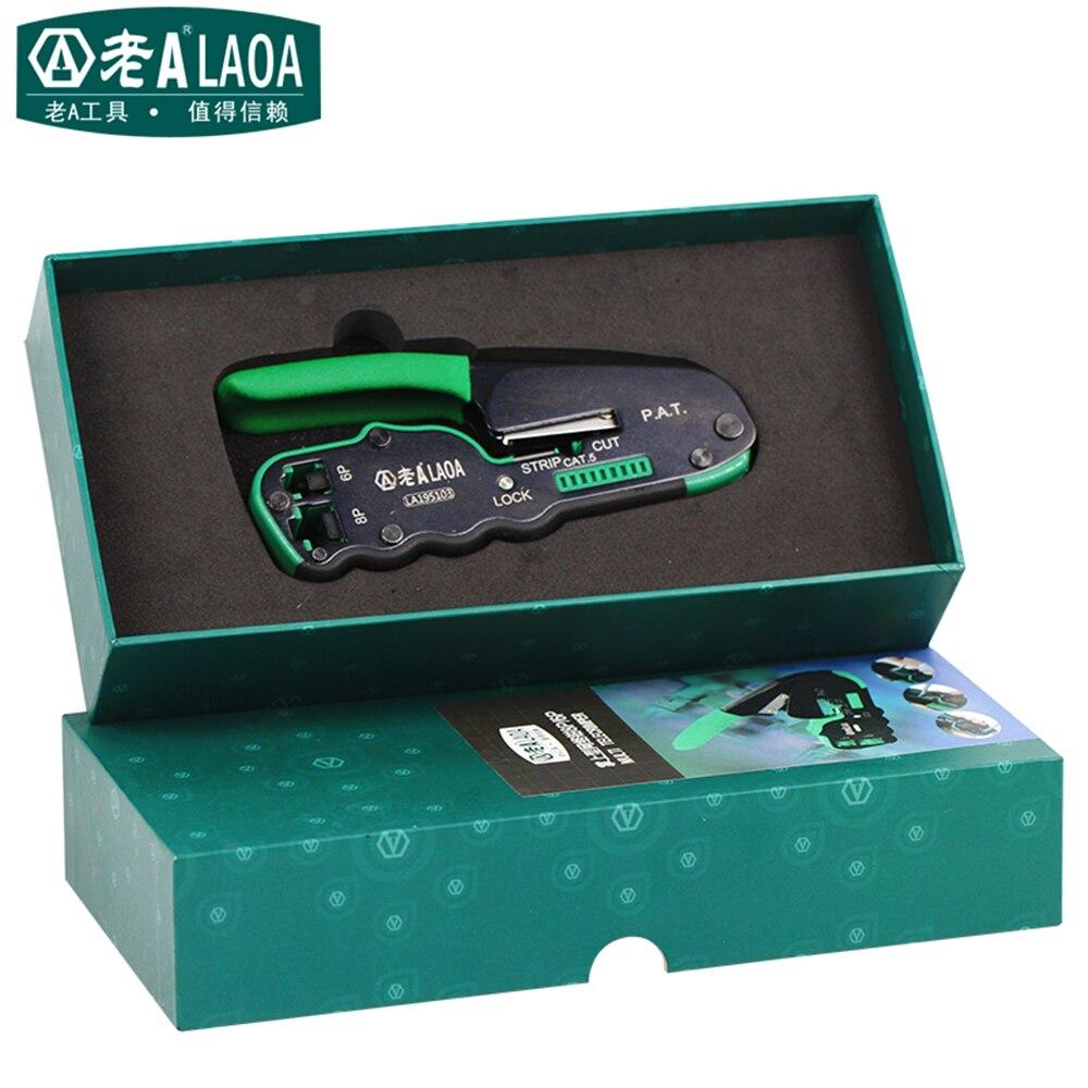 LAOA Réseau Outils 6 P/8 P Réseau Pinces Portable Multifonctionnel Câble À Dénuder Pince À Sertir Terminal Outil Cadeau boîte