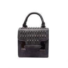 MINI Bag 2016 New Fashion font b Handbag b font Trendy Rivets studded Flap Bag Korean
