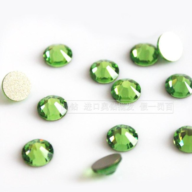 ᓂSS3--SS34 Crystal olivino/verde no Hotfix Rhinestone Nail ...