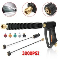 Hot 3000PSI High Pressure Water Spray Gun Lance Washer Nozzle Tip 50cm Wand Set Tool