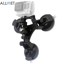 Крепление штатива комплект для GoPro Hero 5 3 3 + 4 сеанса ксиоми Yi 4 К SJCAM SJ4000 с мячом Голова присоски низкий угол съемный присоски