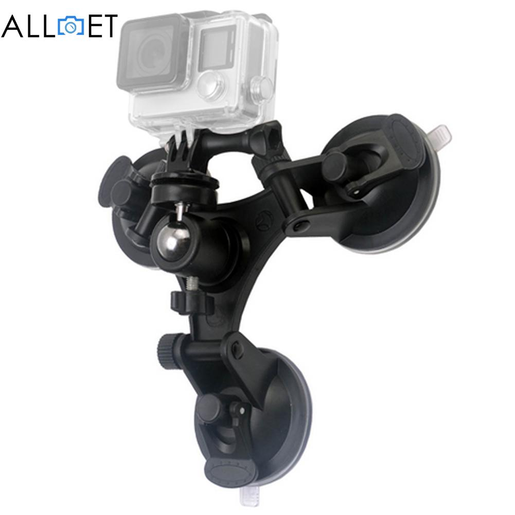 Tripod Mount Kit For Gopro Hero 5 3 3+ 4 Session Xiami Yi 4K SJCAM SJ4000 With Ball Head Suckers Low Angle Removable Suction Cup