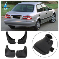 WISENGEAR Front Rear Molded Splash Guards Mud Flaps Fenders For TOYOTA Corolla AE100 1998 1999 2000 2001 2002 Mudflaps 4PCS