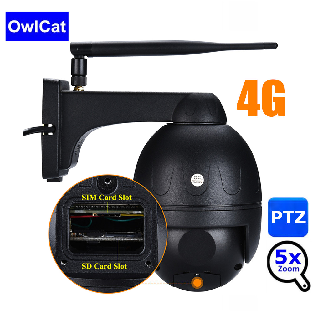 Image 1 - 4G 3G MiFi SIM Card Outdoor PTZ HD 1080P Bullet Camera IR 50M 5X Zoom Auto Focus P2P CCTV Wifi IP Camera Audio 128G SD Card Slot-in Surveillance Cameras from Security & Protection