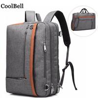 CoolBell messenger Shoulder Nylon portable handbag For macbook pro 17 Laptop bag 17.3 Notebook case computer Shoulders backpack