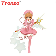 Tronzo Orijinal TAITO Aksiyon Figürü Anime Kart Captor Sakura Seksi Şekil Kinomoto Sakura Çocukluk PVC şekilli kalıp oyuncak bebekler