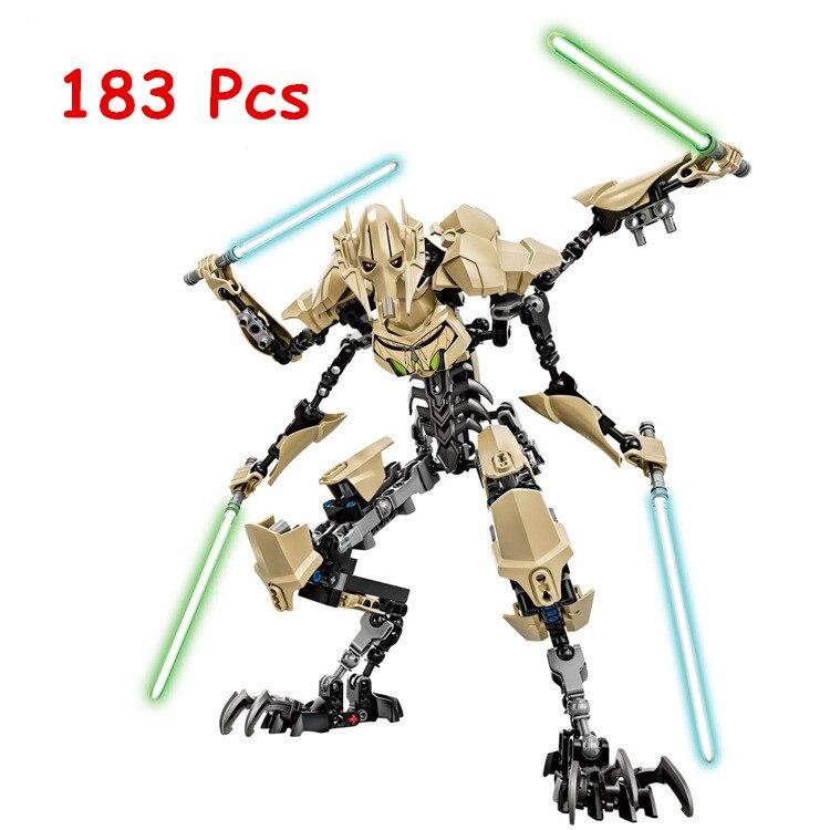 NEW KSZ Star Wars 7 General Grievous with Lightsaber Storm Trooper w/gun Figure toys building blocks set compatible with legoe