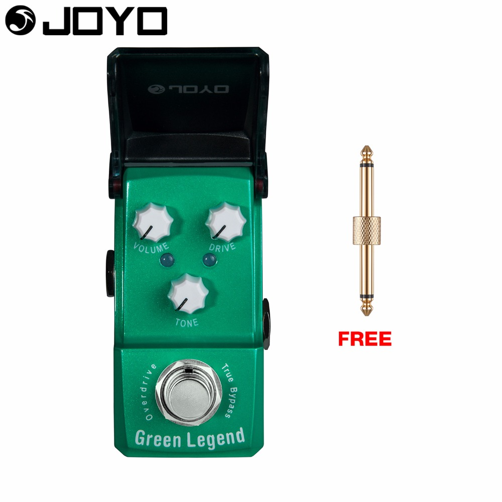 Joyo Ironman Green Legend Overdrive Guitar Effect Pedal Volume Control Drive Control True Bypass JF-319 with Free Connector