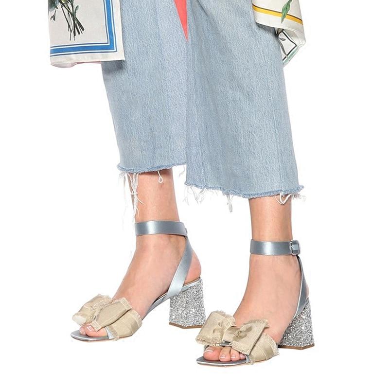 Pic Pompe Bowknot Donna as Sexy Scarpe Alla Lusso Esposizione Caviglia Seta Da Tacchi Peep As Bling Sandali Paillettes Pic Cinturino Partito Del Gladiatore Di Banchetto Toe qCnZqwg