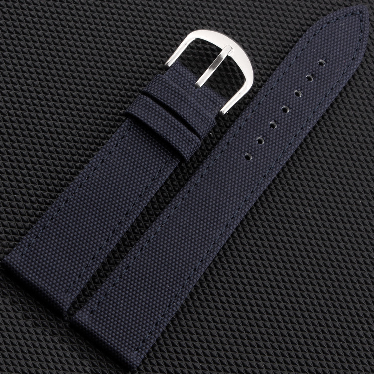 18 20 22 24mm Litchi Canvas Face Genuine leather inner Watchband Black Army Green Blue Watch Strap top grade vintage calfskin genuine leather watch strap 20mm army green tan dark blue green maroon black watchband with buckle