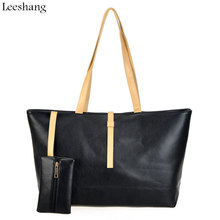 Leeshang Fashion Women Shopper Bag Black Handbag Big Ladies Shopper Bag Women Leather Handbag Big Shoulder Bags Feminina Bolsos