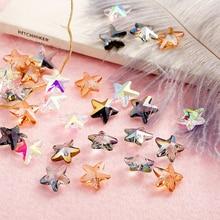 10pcs 14mm Multicolor Crystal Beads Handmade Starfish Shape Beads Charm Glass Bead Loose Spacer Bead For DIY Jewelry Making недорого