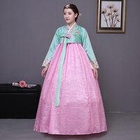 Women South Korean Traditional Costume Female Ancient Kroean Hanbok Dress Vintage Ladies National Dance Dress 89