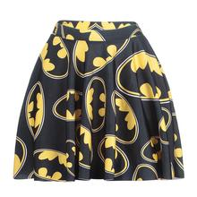 Cartoon Batman Women Sexy Pleated Skirts Tennis Bowling Bust Shorts Skirts Digital Print 4XL Female Fitness Apparel A Style