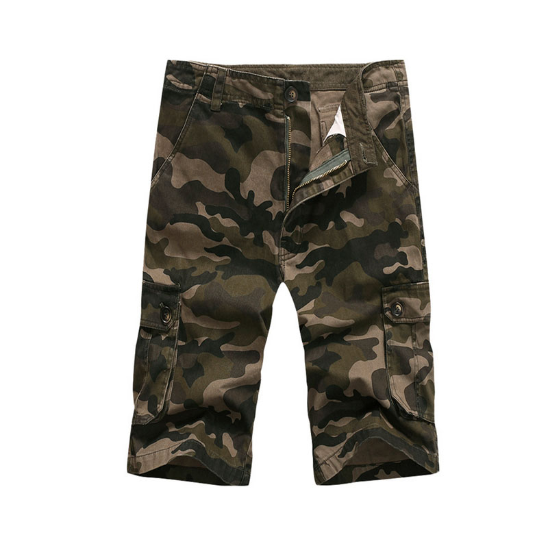 Mens Cotton army Out door military male Short Masculino Camouflage Mannen Leger Cargo Multi-pocket camo pants
