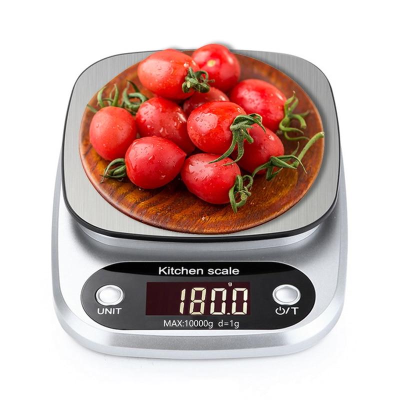 10kg 1g led electronic digital kitchen scale balance cuisine food scale cooking measure tools. Black Bedroom Furniture Sets. Home Design Ideas