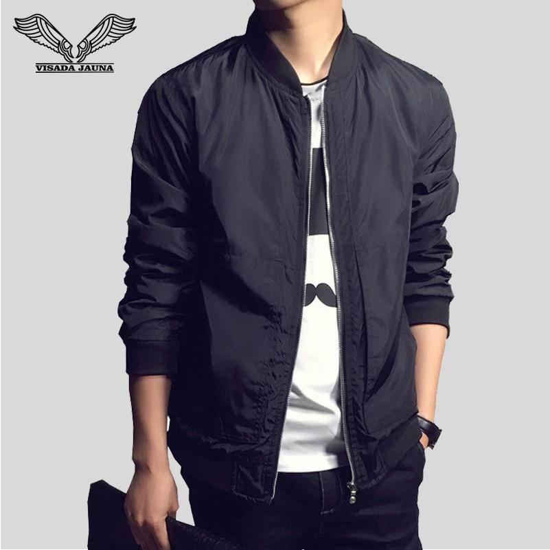 VISADA JAUNA pria Jaket Pendatang Baru Musim Gugur Busana Lengan Panjang Jaket Pria Slim Fit Kasual Jaqueta Masculina Jaket N1113