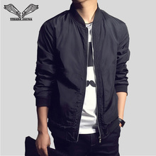 VISADA JAUNA Men's Jacket New Arrivals SpringFashion Long Sleeve Male Coats Slim Fit Solid Casual Jaqueta Masculina N1113