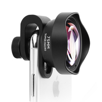 HD SLR Lens For Phone 4K 75MM Macro Optical glass Camera Universal Full Screen Camera For iPhone Samsung S6 S7 S8 X Plus Lentes