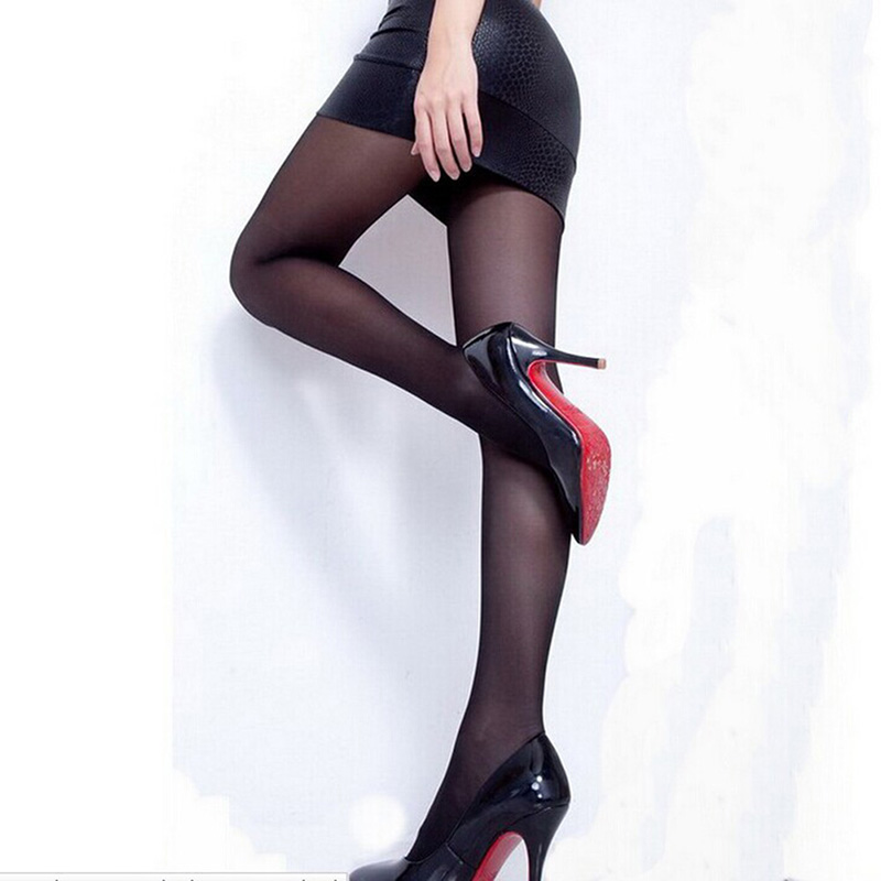 Sexy Nylon Thin Pantyhose For Girl Solid Color Fashion Slim Tights Summer Style Spandex Lolita Black Stockings