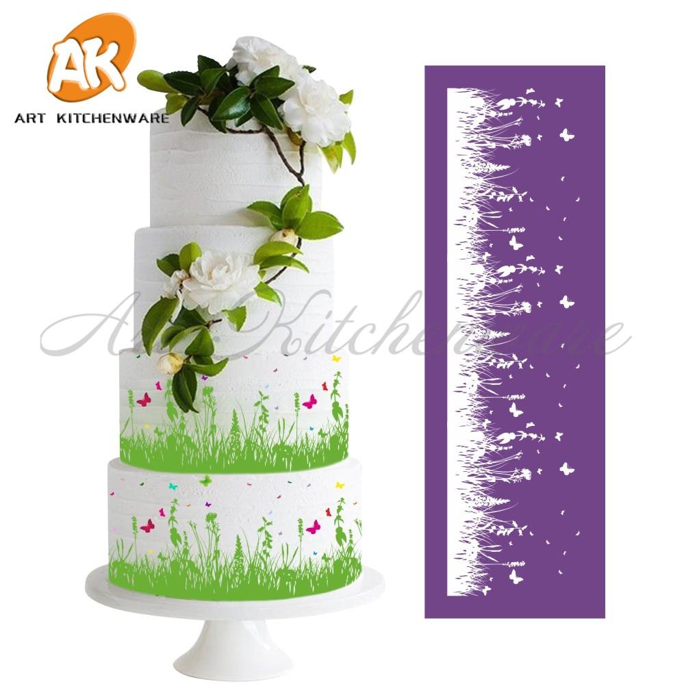 ახალი Grassland Mesh Stencil მაქმანი Cake - სამზარეულო, სასადილო და ბარი - ფოტო 2