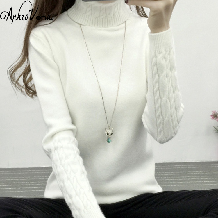 Women Winter Autumn Sweaters Lady long Sleeve Christmas Sweater Crewneck Jumper Thin Casual Knitted Sweater Solid Vestidos Mujer