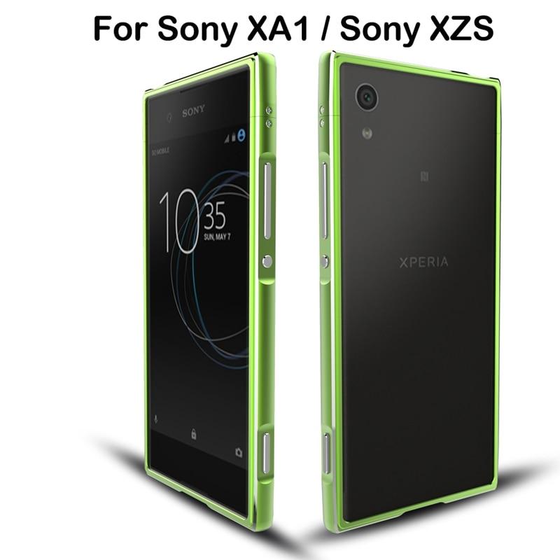 imágenes para Marca de lujo Para Sony Xperia XZS XA1 G3112 G3116 Caso de Parachoques De Aluminio Caso Ultra Fino Para Sony XA1 XA 1 XZS Con Correa hombres