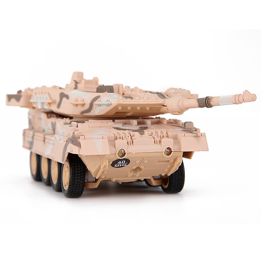 4 цвета Портативный радиоприемник управления танки автомобиль 4 Каналов Беспроводного Управления RC боевой танк тигр военный автомобиль мод…