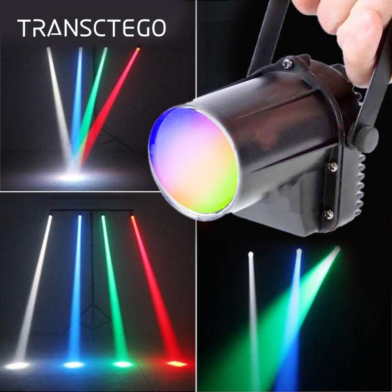 LED Pinspot 5W RGBW Disco Light Spotlight Narrow Beam Rain Light Stage Lamp Small Moving Head Glass Balls Bar Party KTV Lighting