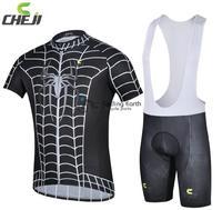2014 Pro HQ Summer Spider Man Short Sleeve Cycling Jersey Bib Shorts Set Bike Bicycle Wear