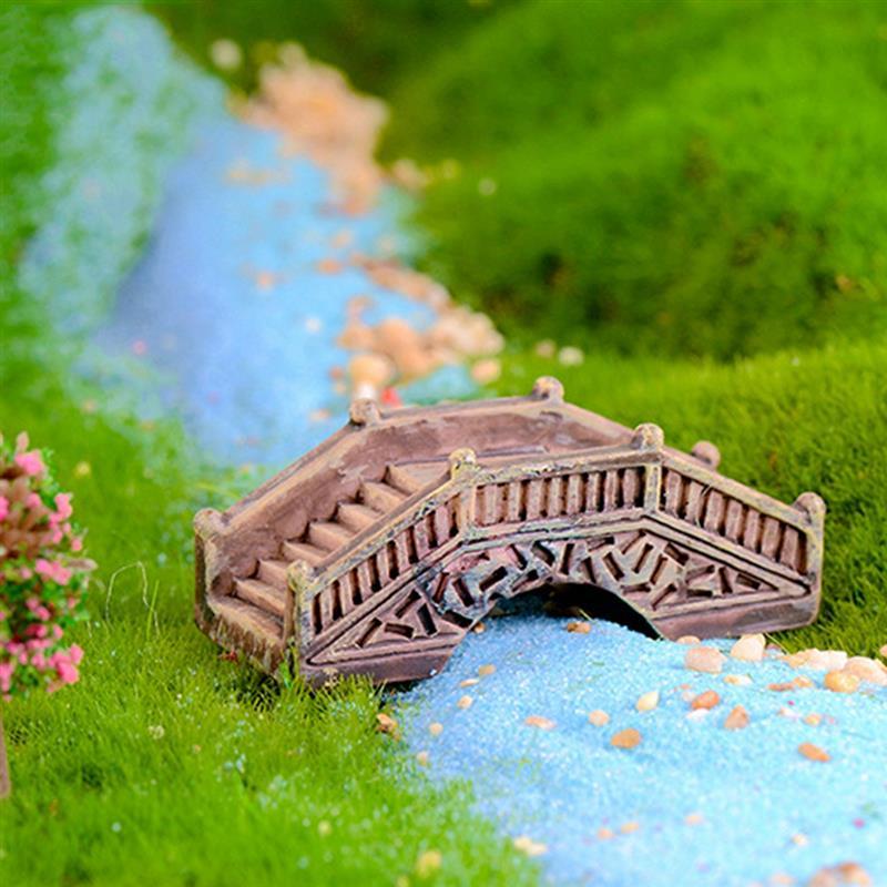 Mini Simulated Stone Arch Bridge Fairy Garden Miniatures Resin Ornaments Micro Landscape Home Garden Decoration