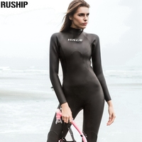 High quality 3mm Women Triathlon Sharkskin Wetsuit High elastic Smooth skin neoprene soft leather fabric Diving suit in YAMAMOTO