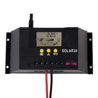 PWM 30A 12V/24V Solar Charge Controller Regulator Fot Solar Battery Panel Safe Protection With CE Certify