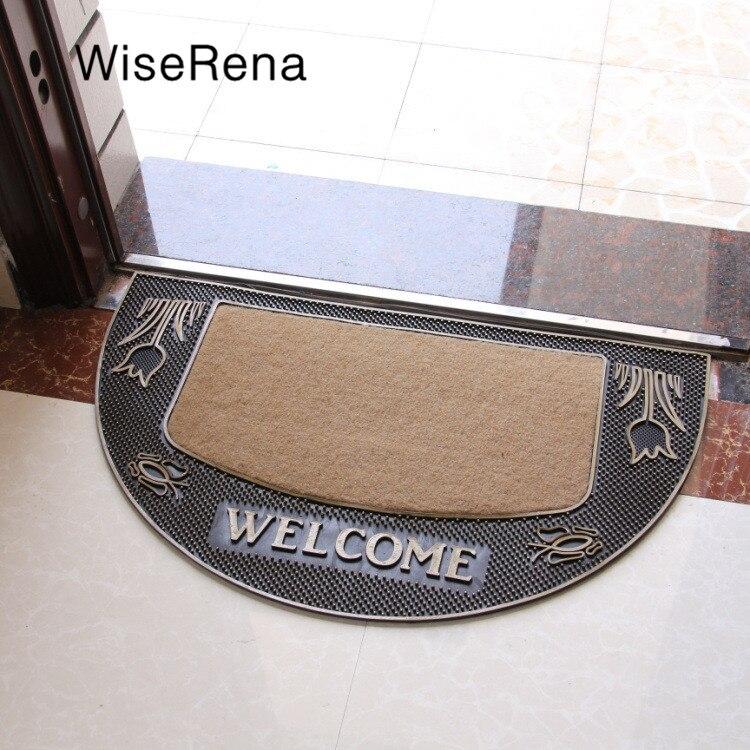 Europe bienvenue paillasson PVC anti-dérapant toilette salle de bain tapis taille 45*80 cm salon tapis haute qualité usage domestique épaissi tapis