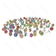 100 Units / Package Fruits Colorful Flowers Push Pins Metal Office Accessories School Supplies